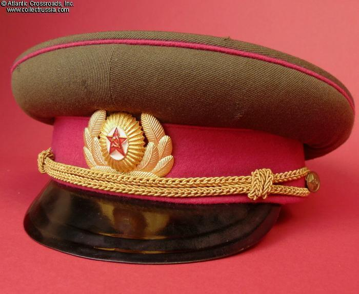 a79b64f7c Collect Russia Infantry officer dress visor hat, dated 1960. Soviet ...